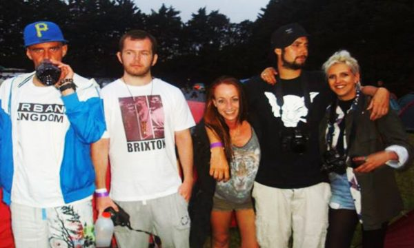 (From left) Chris Lindon, Nick Donnelly, Laura Green, Oliver Whitehouse and Jessica Daly backstage at a British Hip-Hop festival in 2015.