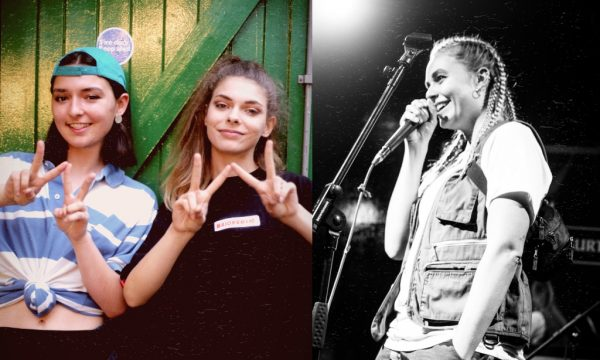 (Left) Poet and speaker Hazel alongside Boudicca before Generation W x Brighton (Right) Kimmy Beatboxer performing at Generation W x London
