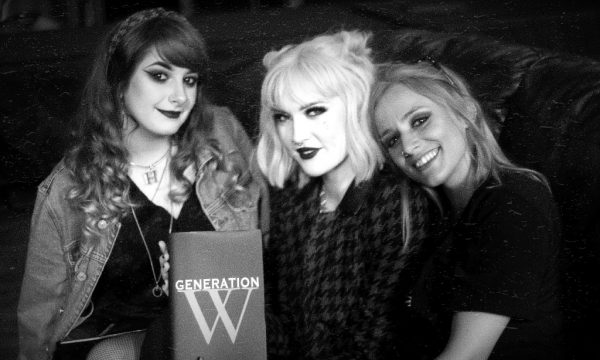 Leeds based rock band Venus being interviewed for a Generation W video production
