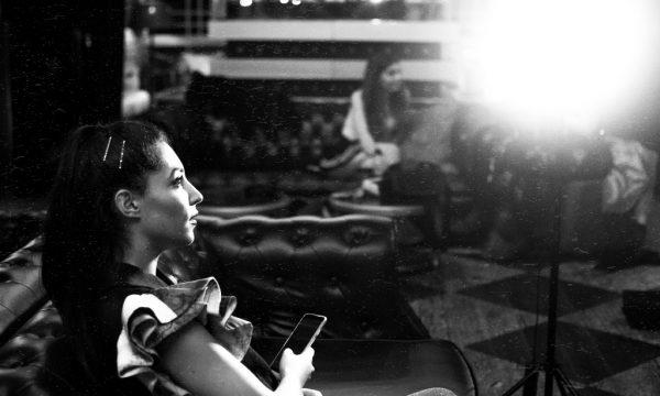 Generation W's Alya Mooro on set in Mayfair for a Generation W promo video