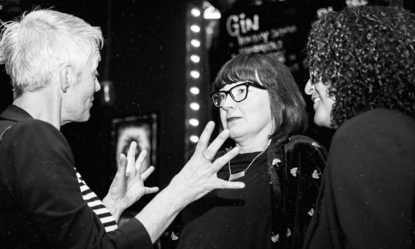 Meryl Griffiths (50 Foot Woman) talking to Mandu Reid (Generation W)