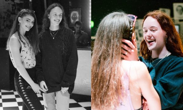 Boudicca and her band member before and after performing at Generation W x The Curtain, London