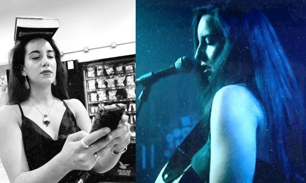 Left: Elea Calvert after performing at Generation W x Bristol Right: Elea Calvert performing at Generation W x Bristol